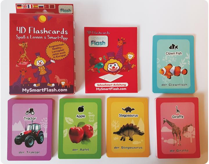 AR Flashcards - Lernspiele zum Sprachen-Lernen